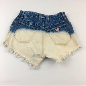Vintage Guess Bleached Jean Shorts Size 31